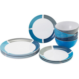 Brunner Midday Set de platos, design spectrum aquarius